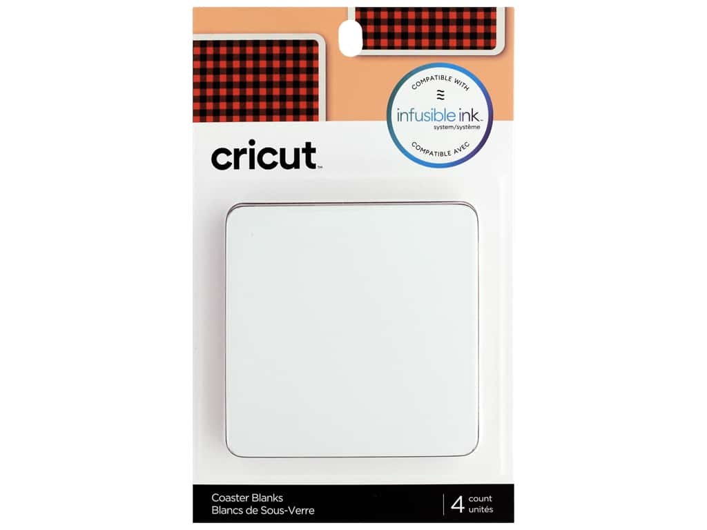 Cricut Infusible Ink Blank Coaster Square 4 pc
