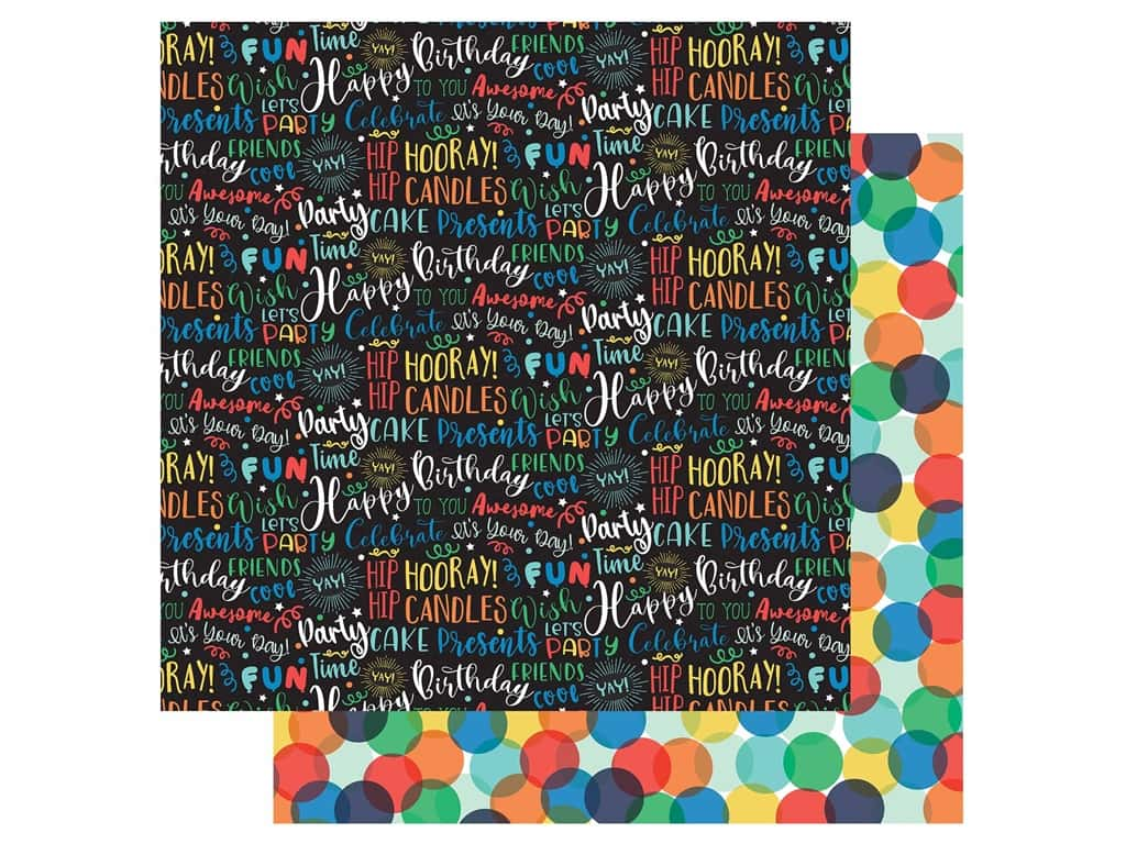 Echo Park Its Your Birthday Boy Collection Paper 12 in. x 12 in. Birthday Boy Words (25 pieces)