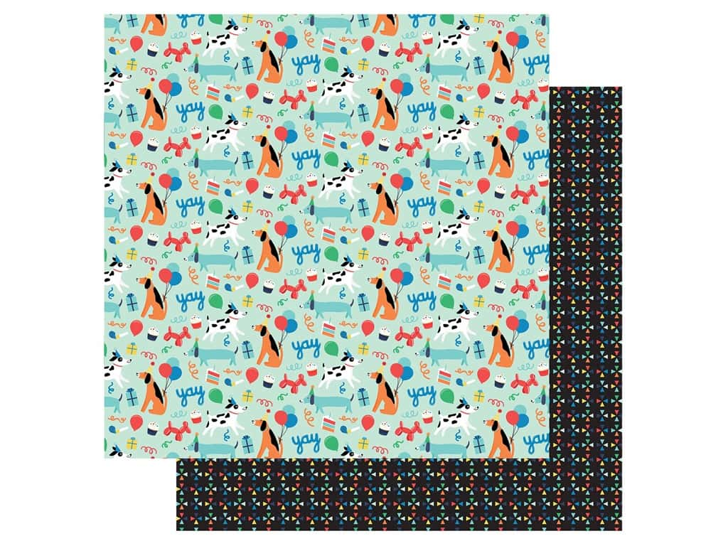 Echo Park Its Your Birthday Boy Collection Paper 12 in. x 12 in. Dog Party (25 pieces)