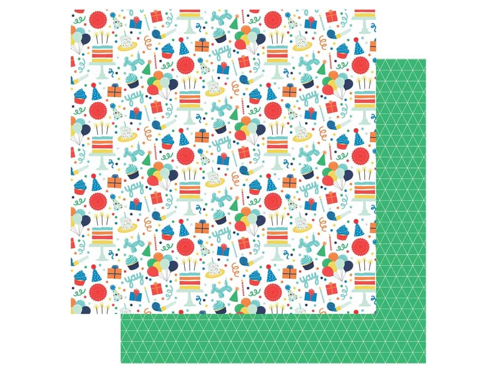 Echo Park Its Your Birthday Boy Collection Paper 12 in. x 12 in. Fun (25 pieces)