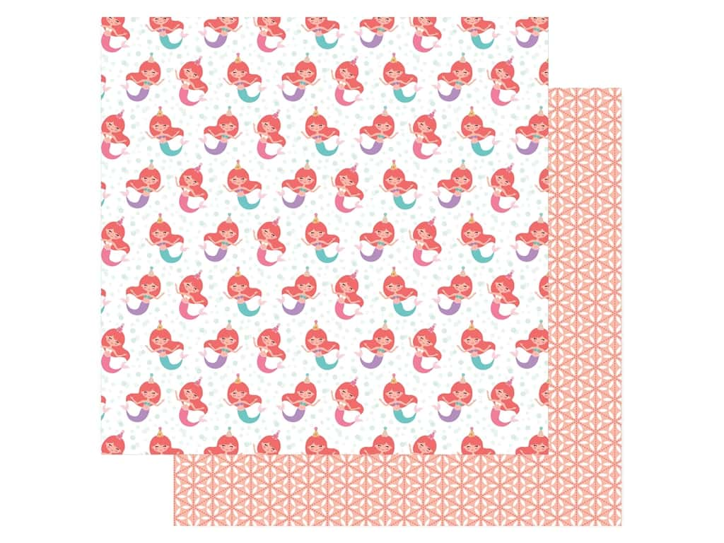 Echo Park Its Your Birthday Girl Collection Paper 12 in. x 12 in. Mermaid Party (25 pieces)