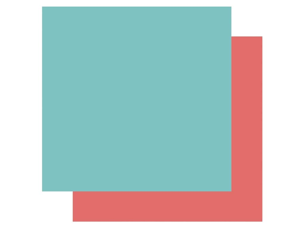 Echo Park Its Your Birthday Girl Collection Paper 12 in. x 12 in. Teal/Coral (25 pieces)