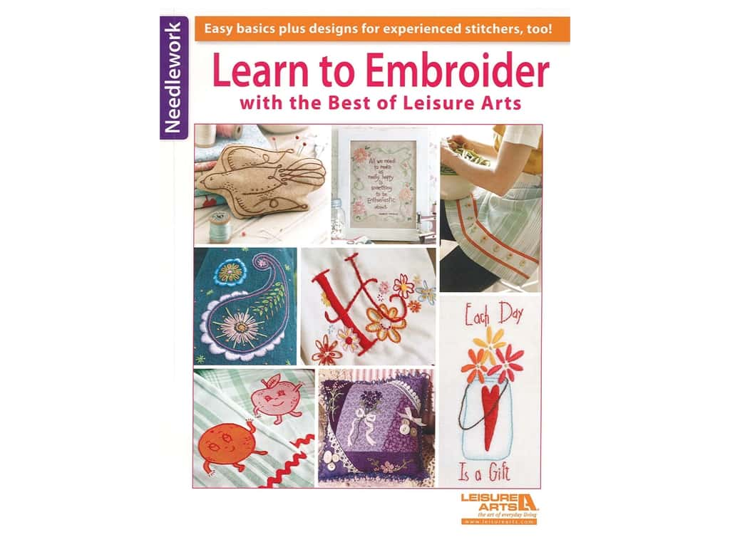 Leisure Arts Best Of Learn To Embroider Book