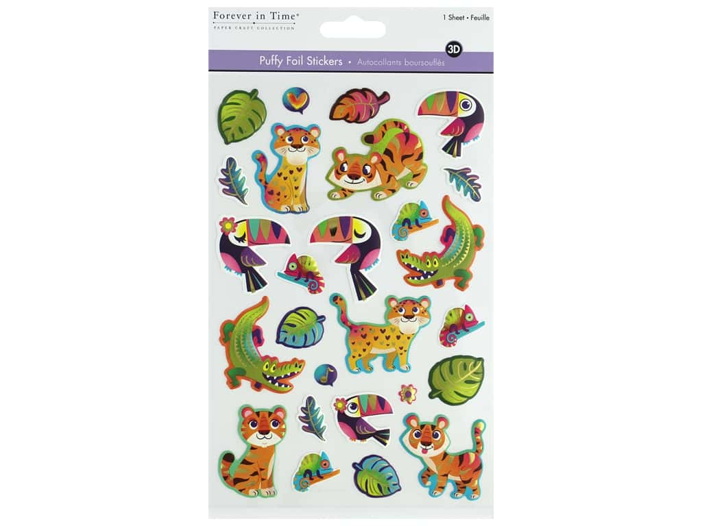 Multicraft Sticker Foil Puffy Rainforest