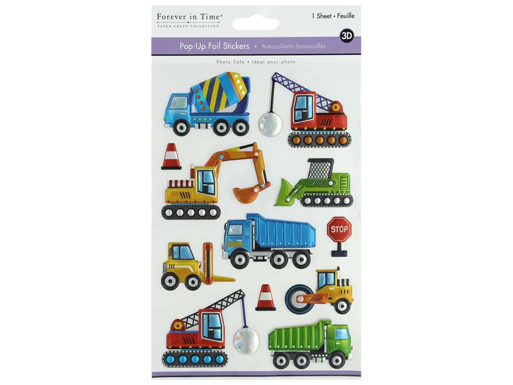 Multicraft Sticker Foil Pop Up Mighty Machine