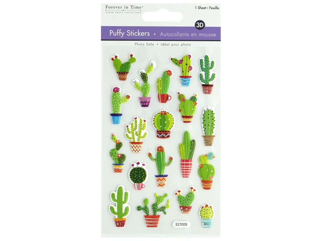 Multicraft Sticker 3D Puffy Succulents
