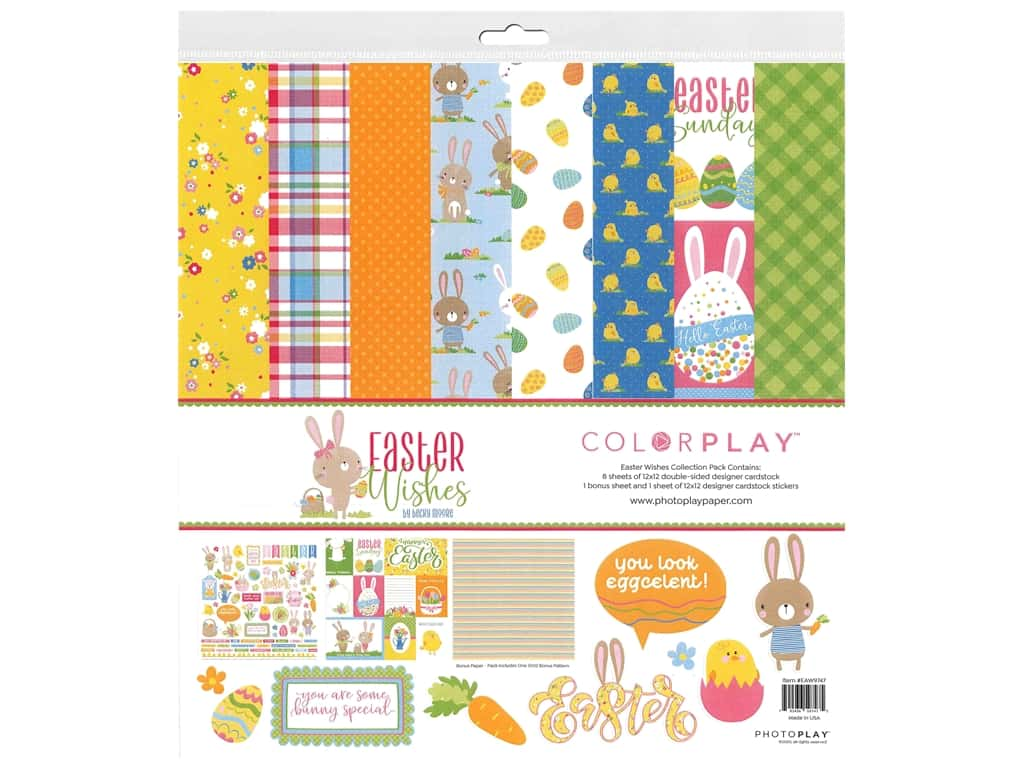 Photo Play Collection Easter Wishes Collection Pack 12 in. x 12 in.