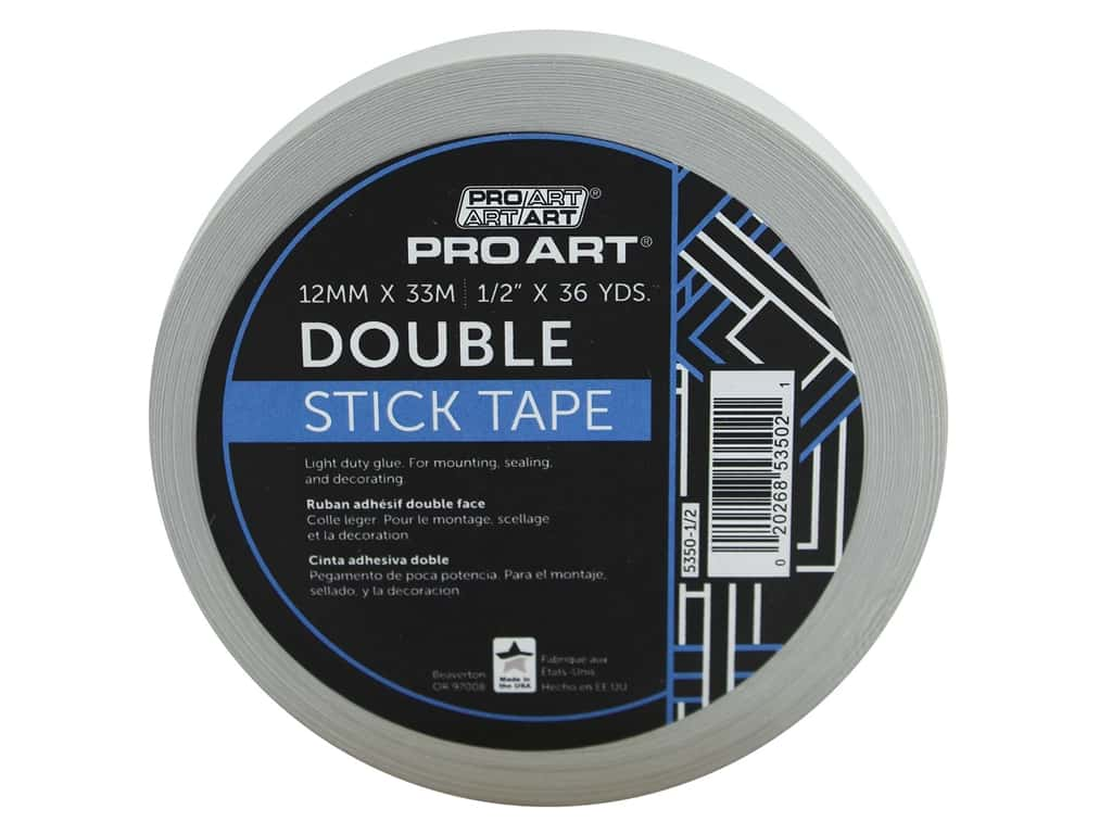 Pro Art Tape Double Stick Adhesive .5 in. x 36 yd