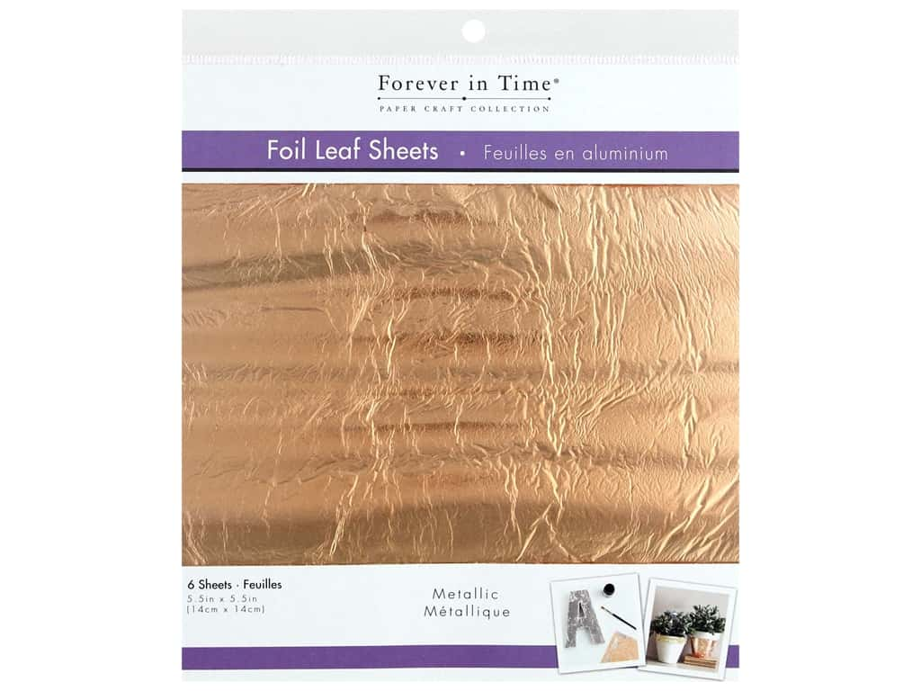Multicraft Forever In Time Foil Leaf Metallic Copper 6 pc