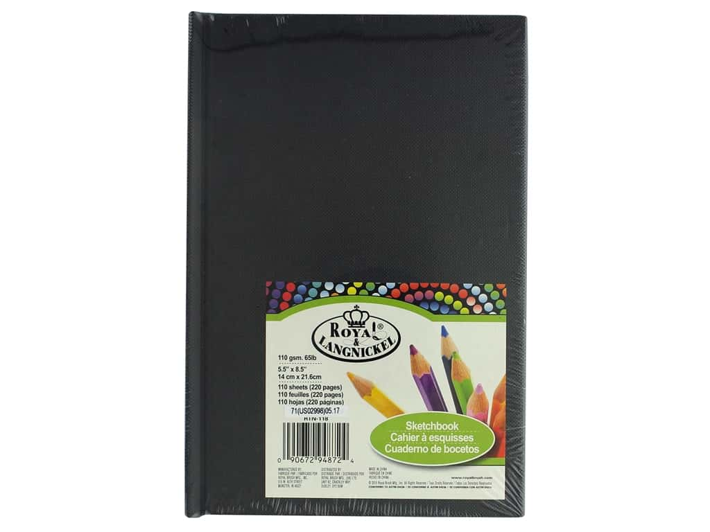 Royal Artist Sketchbook 5.5 in. x 8.5 in. Black