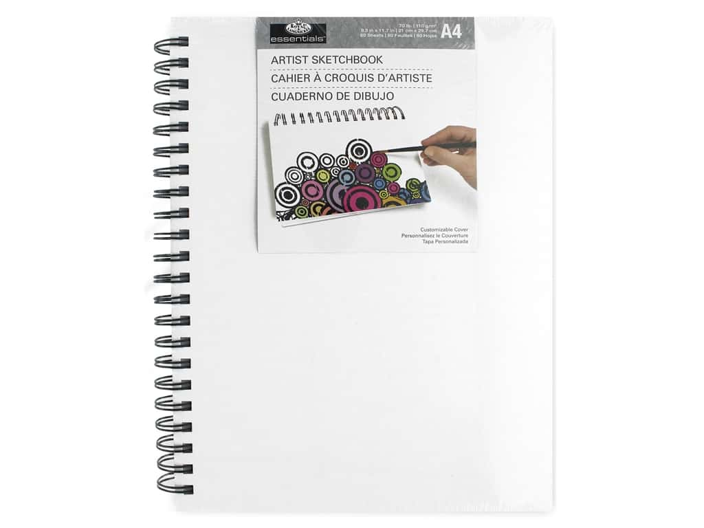 Royal Artist Sketchbook Canvas Cover A4 Wire Bound