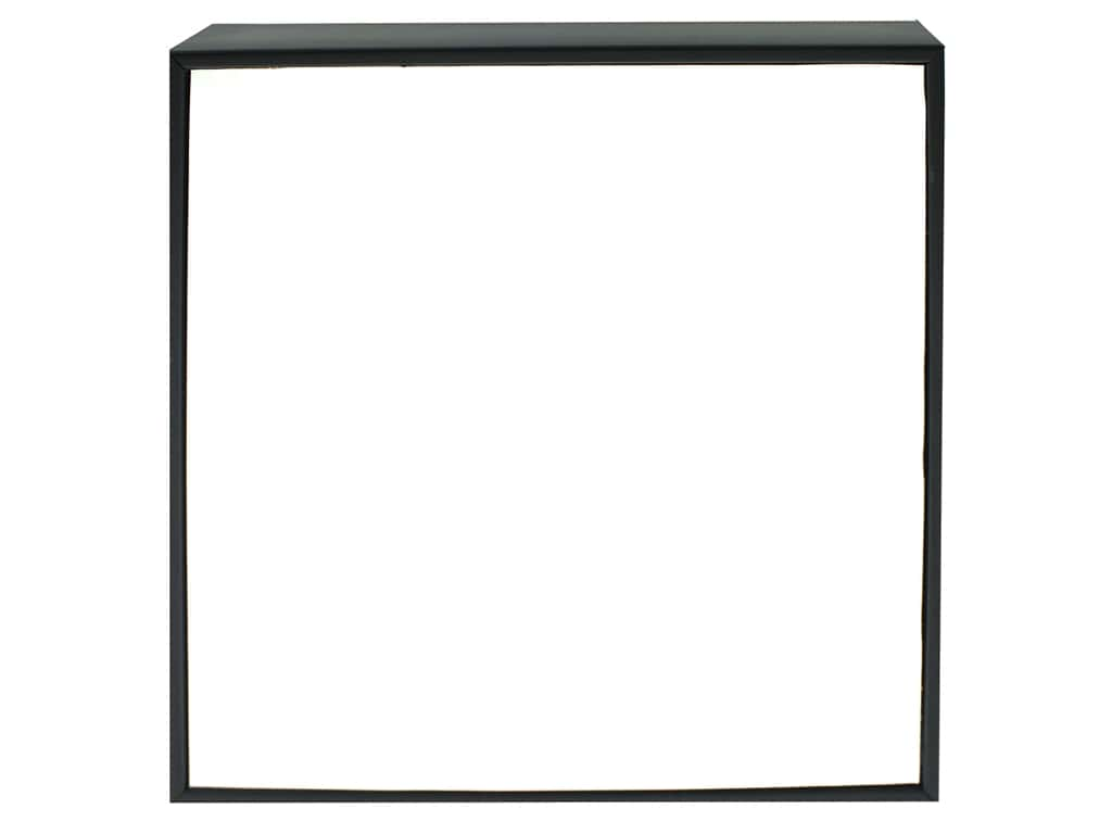 """Sierra Pacific Crafts Wood Plaque In Frame 7.88""""x 7.88""""x 1.5"""" Shiny White/Black"""