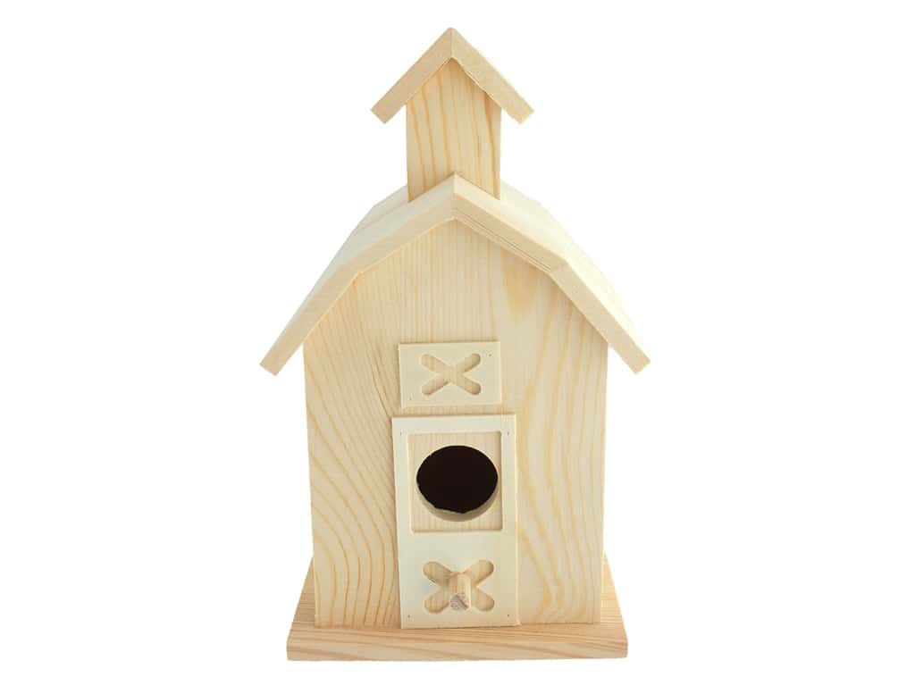 "Sierra Pacific Crafts Wood Birdhouse Barn 5.38""x 9""x 4"" Unfinished"