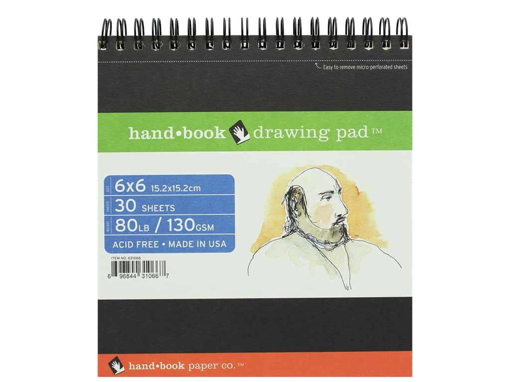 Speedball Hand Book Wire Bound Drawing Pad 6 in. x 6 in.