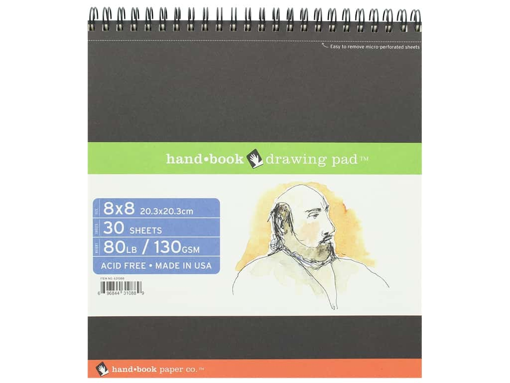 Speedball Hand Book Wire Bound Drawing Pad 8 in. x 8 in.