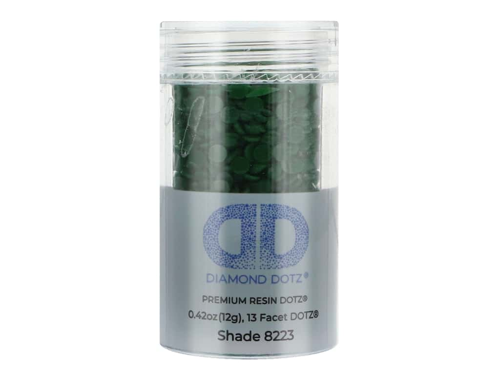Diamond Dotz Freestyle Gems 0.43 oz. #8223 Dark Emerald (4 jars)