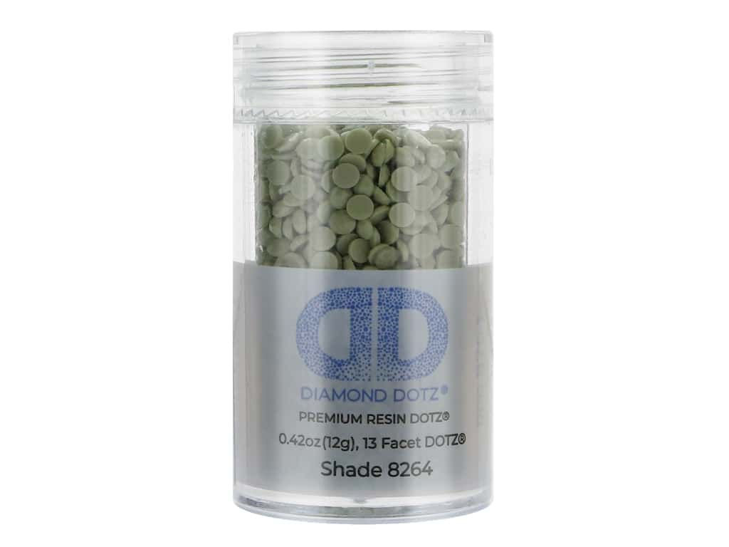Diamond Dotz Freestyle Gems 2.8 mm 12 g Sage (4 jars)