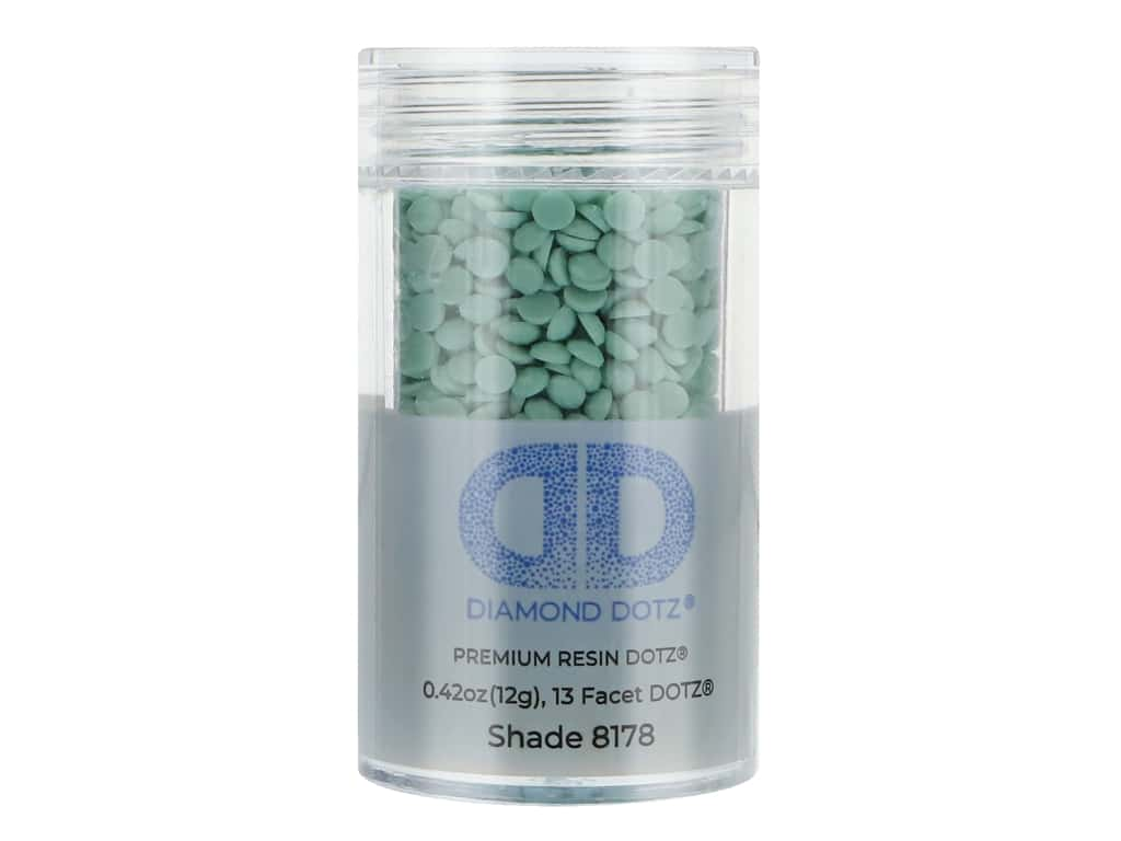 Diamond Dotz Freestyle Gems 0.43 oz. #8178 Mid Turquoise (4 jars)