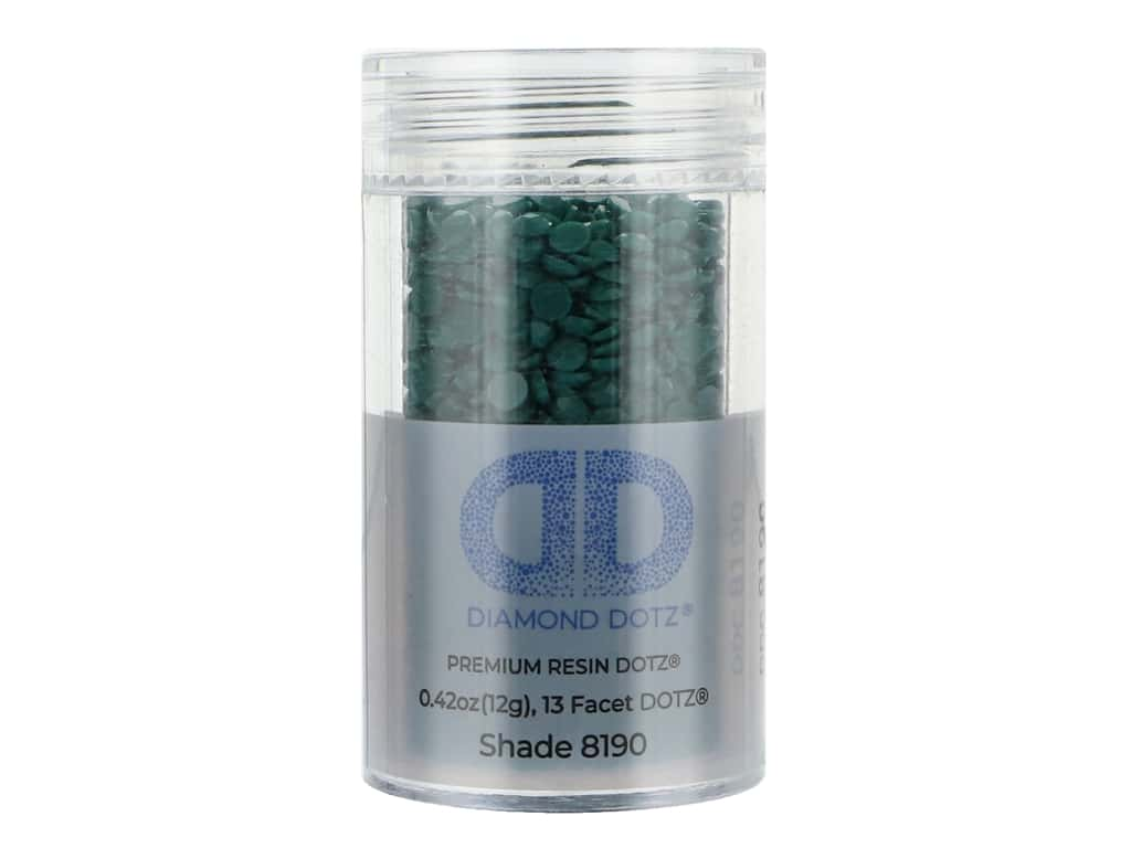 Diamond Dotz Freestyle Gems 0.43 oz. #8190 Dark Jade (4 jars)