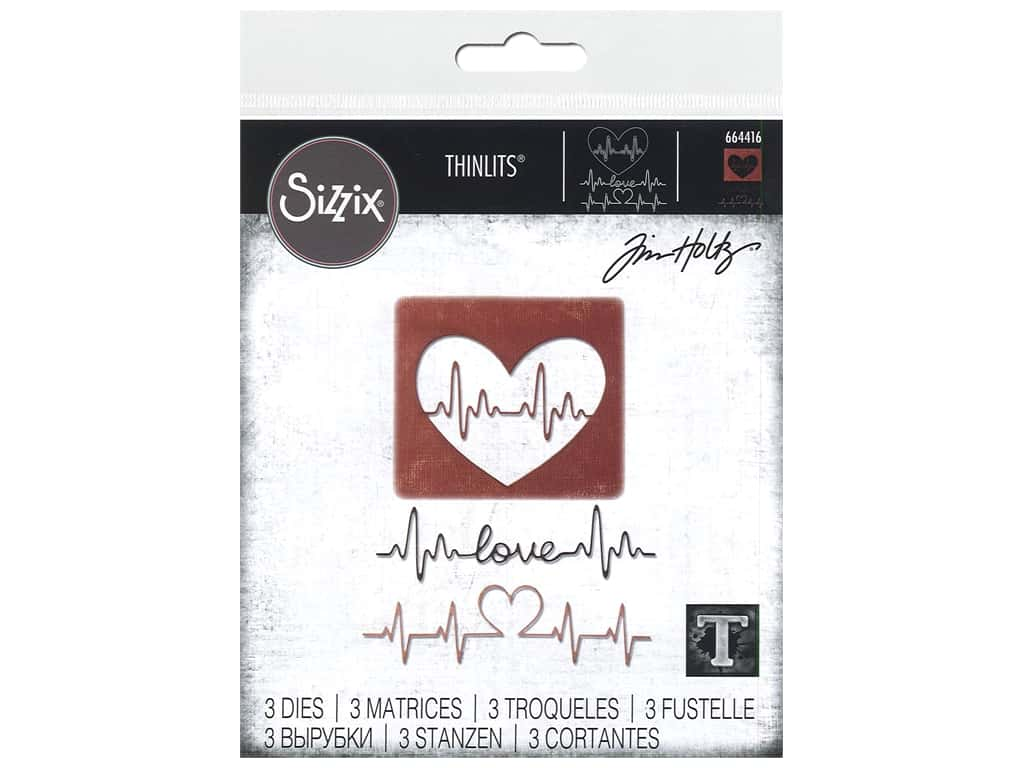 Sizzix Dies Tim Holtz Thinlits Heartbeat