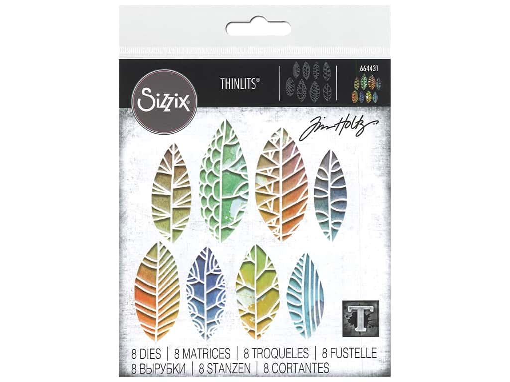 Sizzix Dies Tim Holtz Thinlits Cut Out Leaves