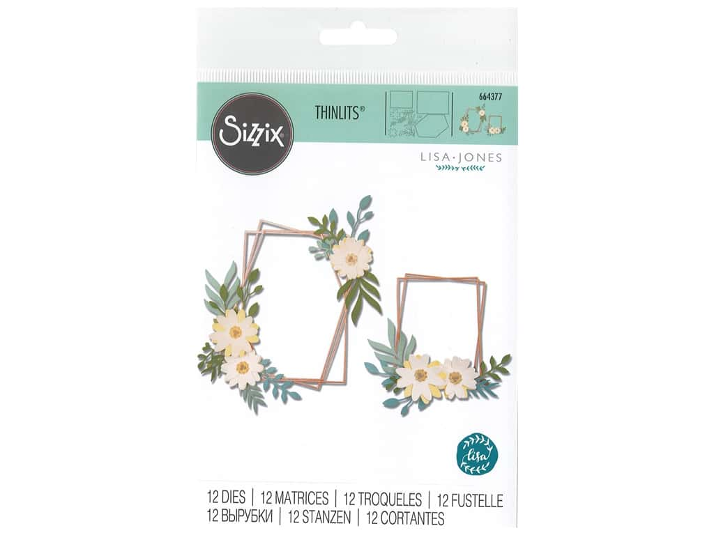 Sizzix Dies Lisa Jones Thinlits Geo Floral Frame