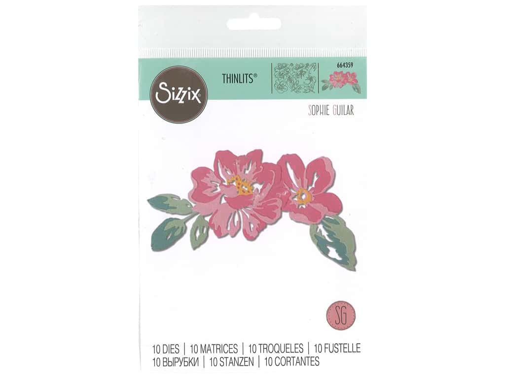 Sizzix Dies Sophie Guilar Thinlits Floral Layers