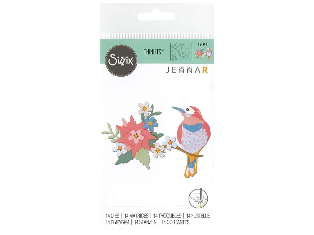 Sizzix Dies Jenna Rushforth Thinlits Bird Scene