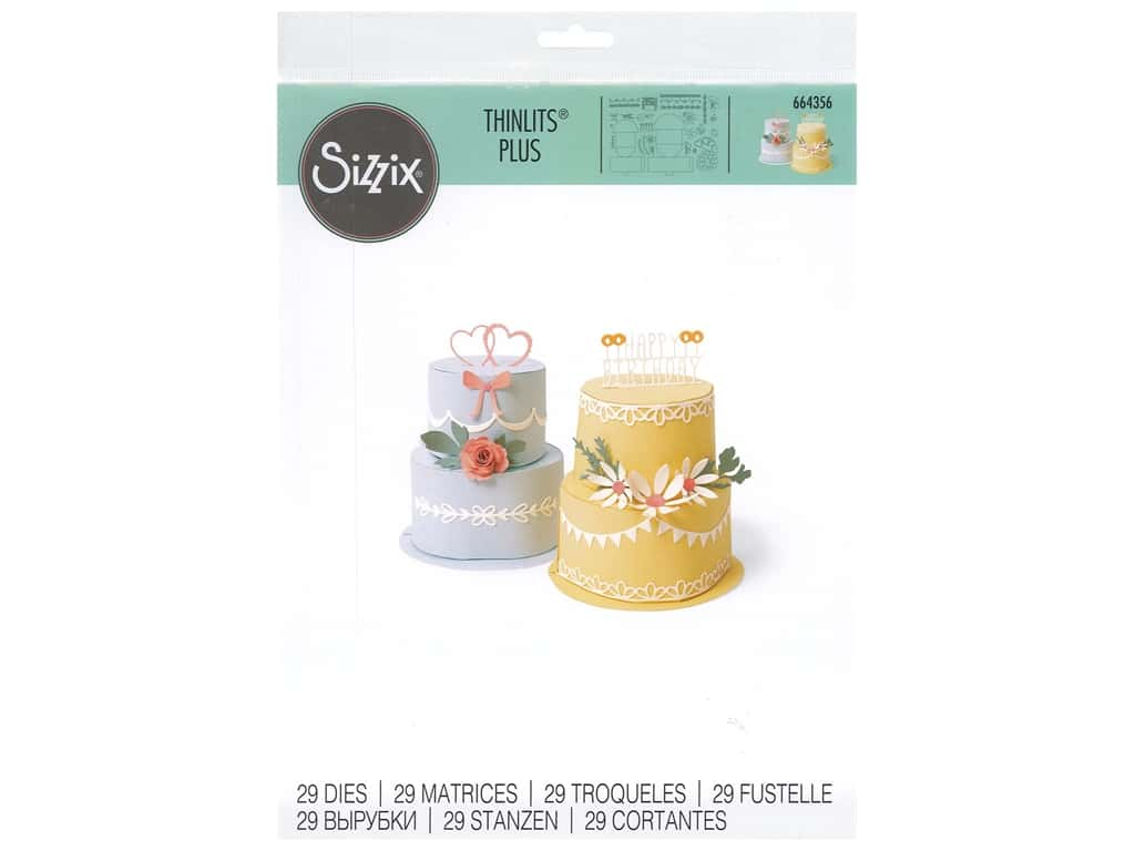 Sizzix Dies Thinlits Plus Cake Pop-Up