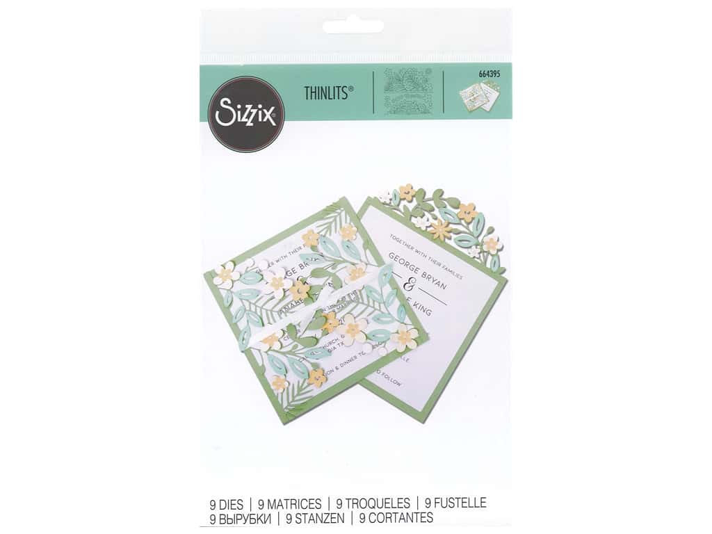 Sizzix Dies Thinlits Floral Edges #2