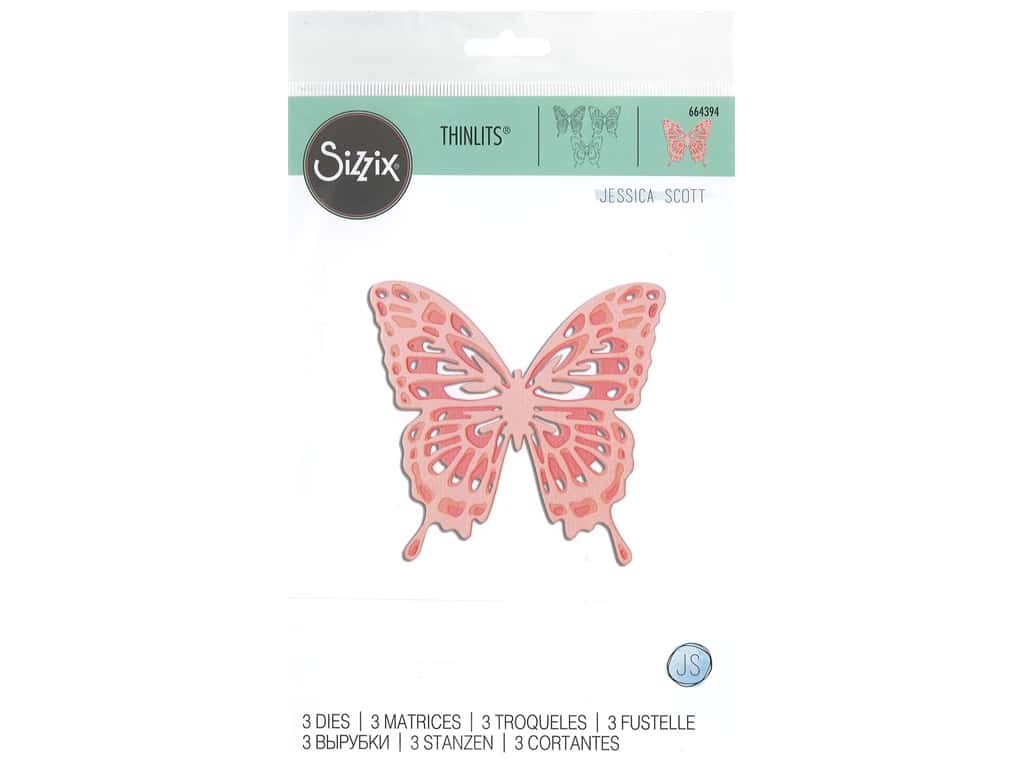Sizzix Dies Jessica Scott Thinlits Intricate Wing