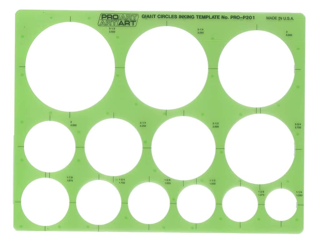 Pro Art Template Inking Giant Circles
