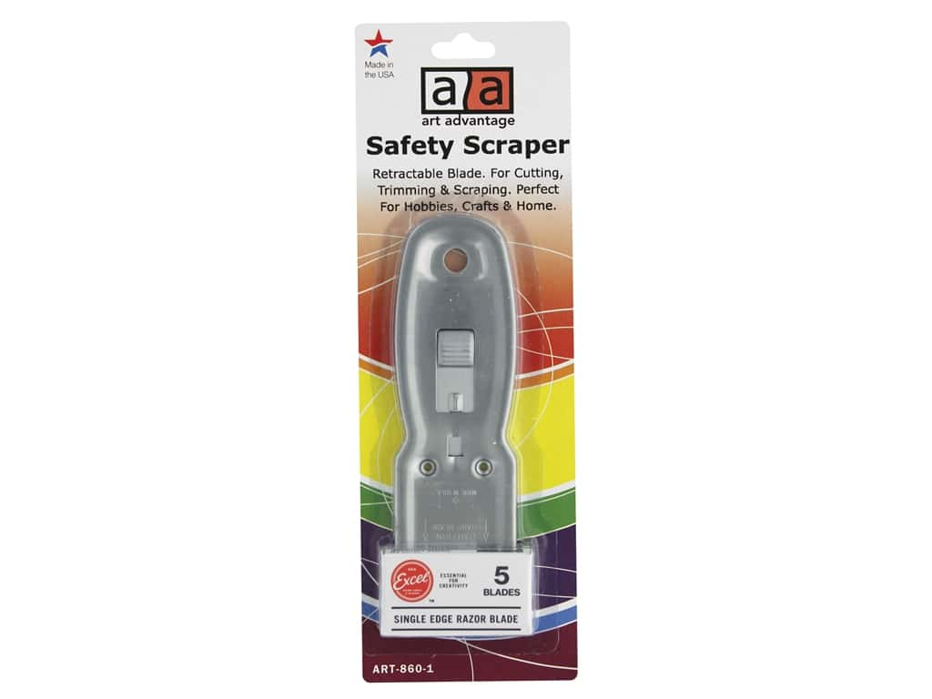 Art Advantage Safety Scraper With 5 Blades