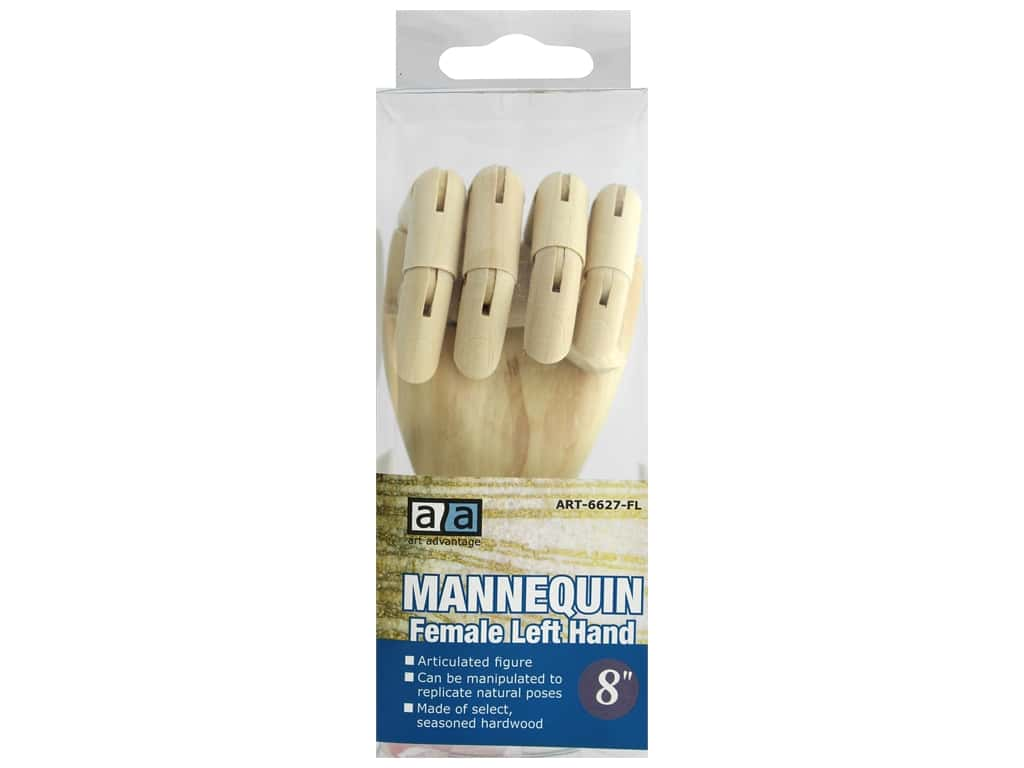 Art Advantage Mannequin 8 in. Female Left Hand