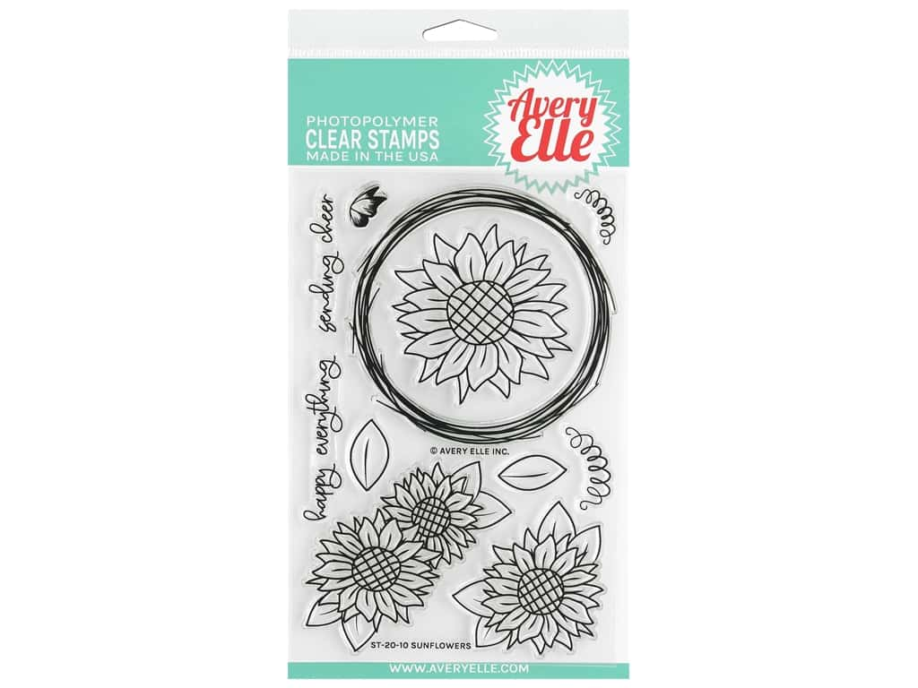 Avery Elle Clear Stamp Sunflowers
