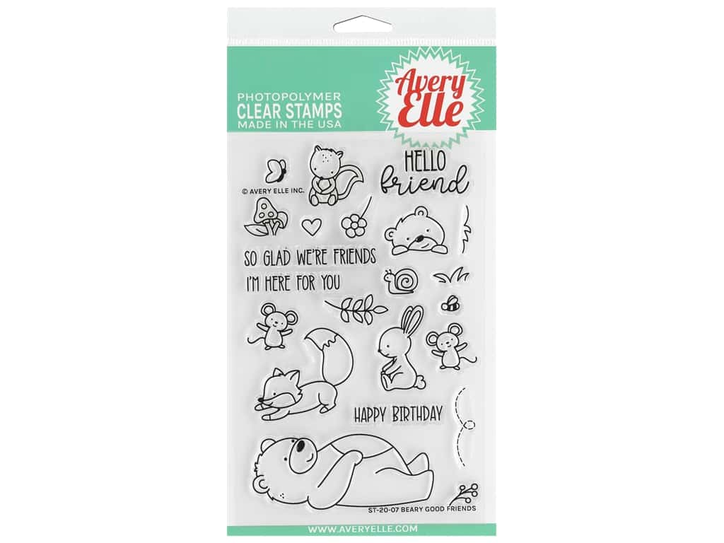 Avery Elle Clear Stamp Beary Good Friends