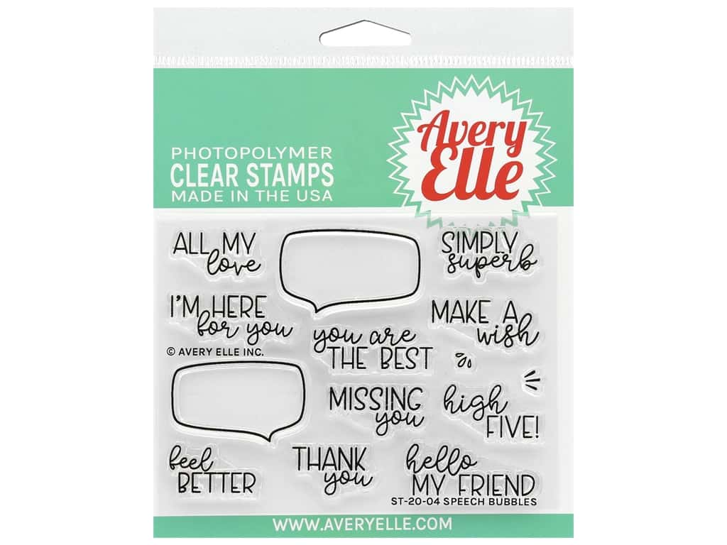 Avery Elle Clear Stamp Speech Bubbles