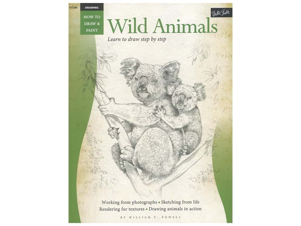 Walter Foster How to Draw & Paint Drawing Wild Animals Book