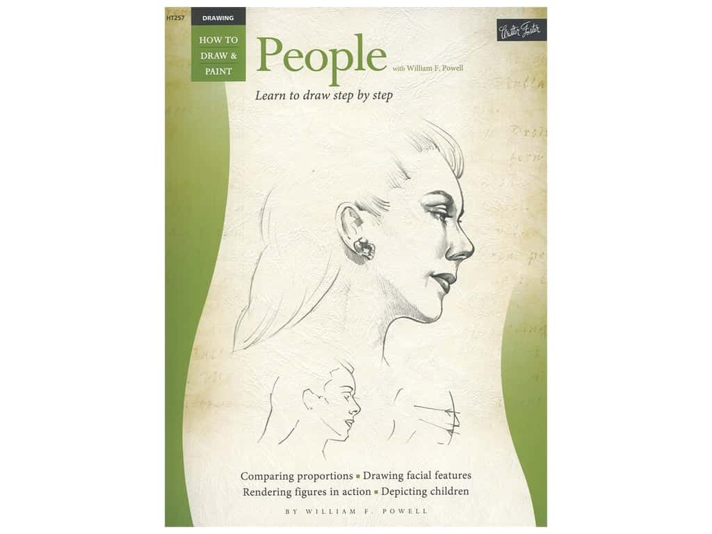 Walter Foster How to Draw & Paint Drawing People Book