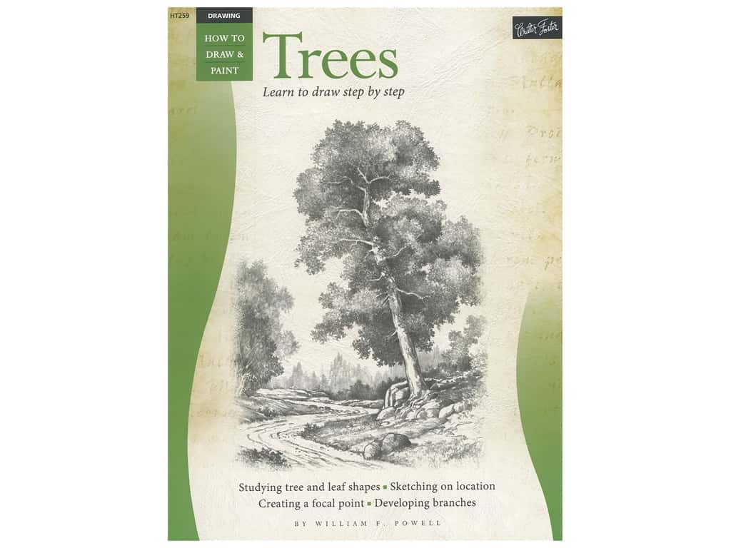 Walter Foster How to Draw & Paint Drawing Trees Book