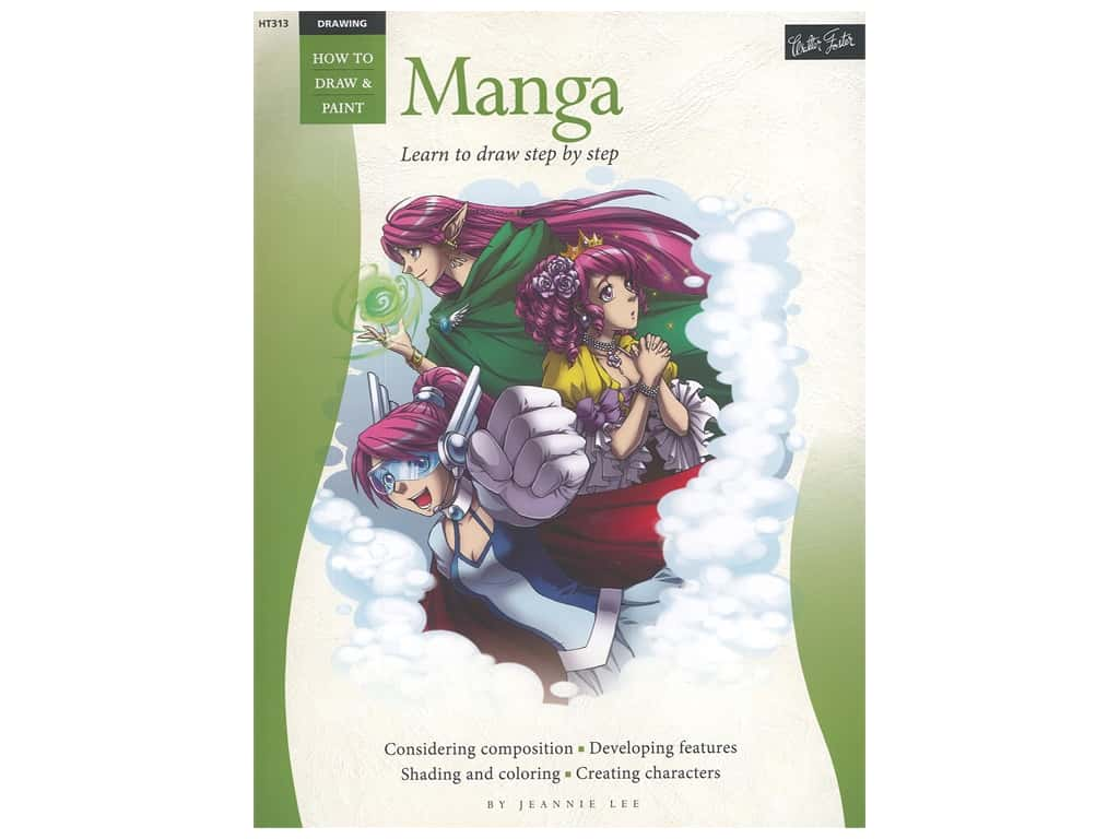 Walter Foster How to Draw & Paint Drawing Manga Book