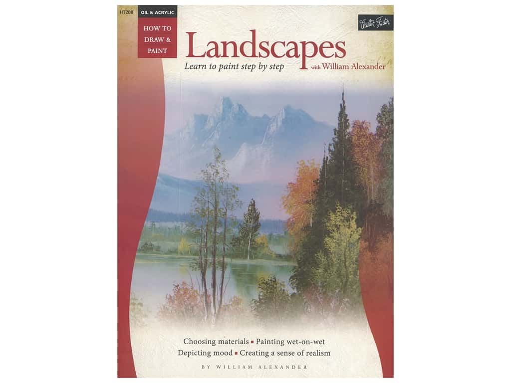 Walter Foster How to Draw & Paint Oil & Acrylic Landscapes Book
