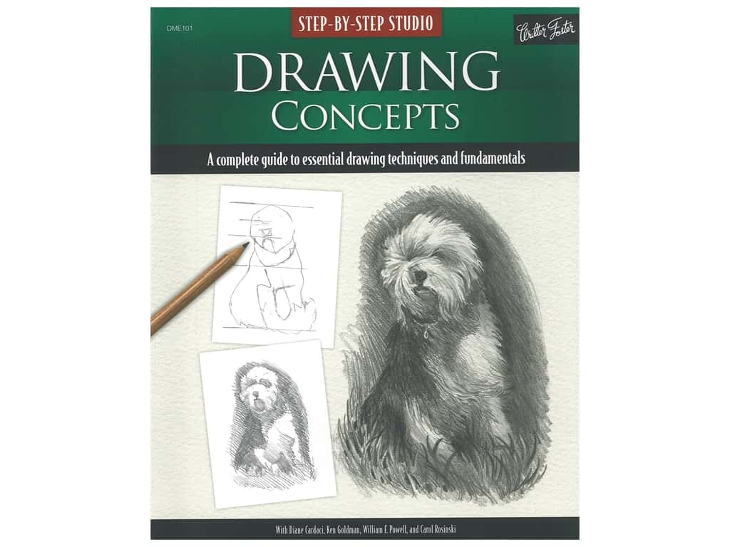 Walter Foster Step By Step Studio Drawing Concepts Book