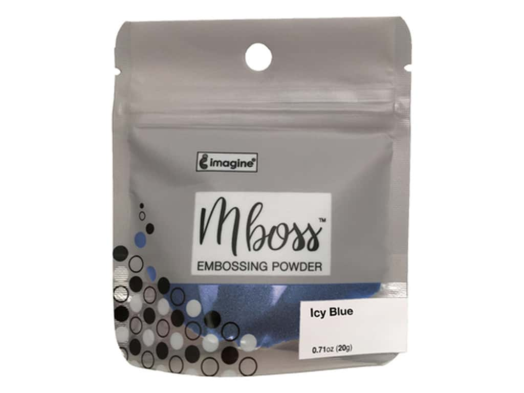 Imagine Crafts Mboss Powder .55oz Icy Blue