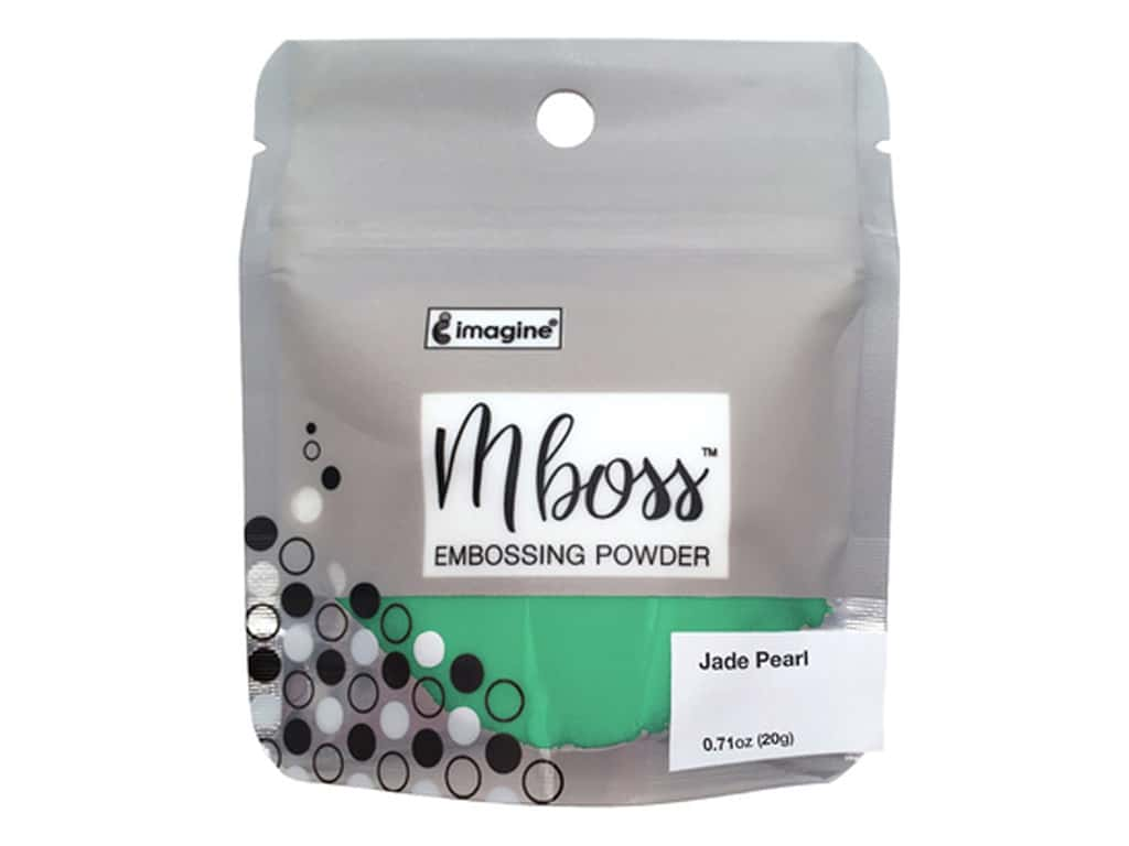 Imagine Crafts Mboss Powder .55oz Jade Pearl