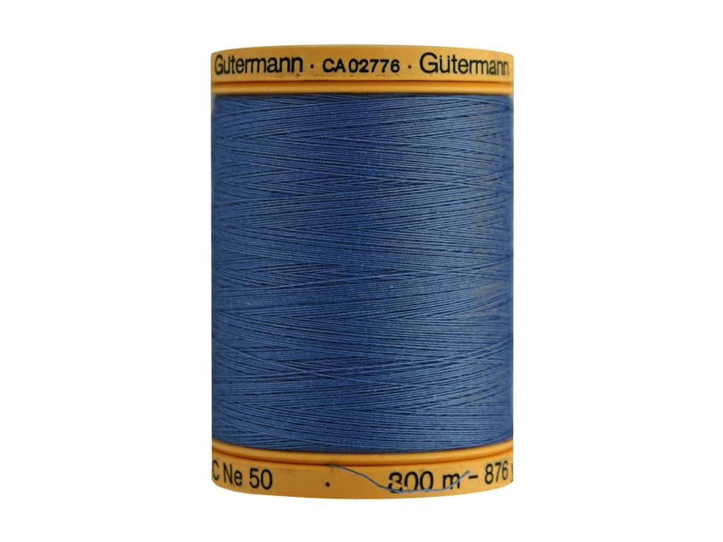 Gutermann 100% Natural Cotton Sewing Thread 875 yd. #5624 Indigo Blue