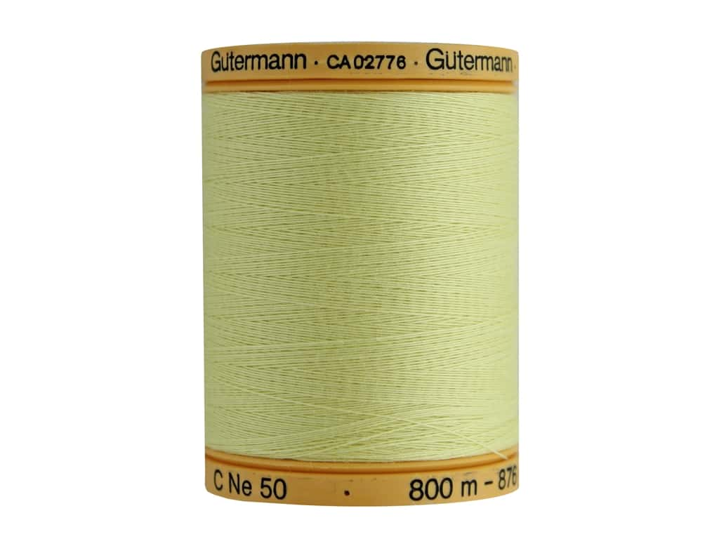Gutermann 100% Natural Cotton Sewing Thread 875 yd. #349 Butter Cream