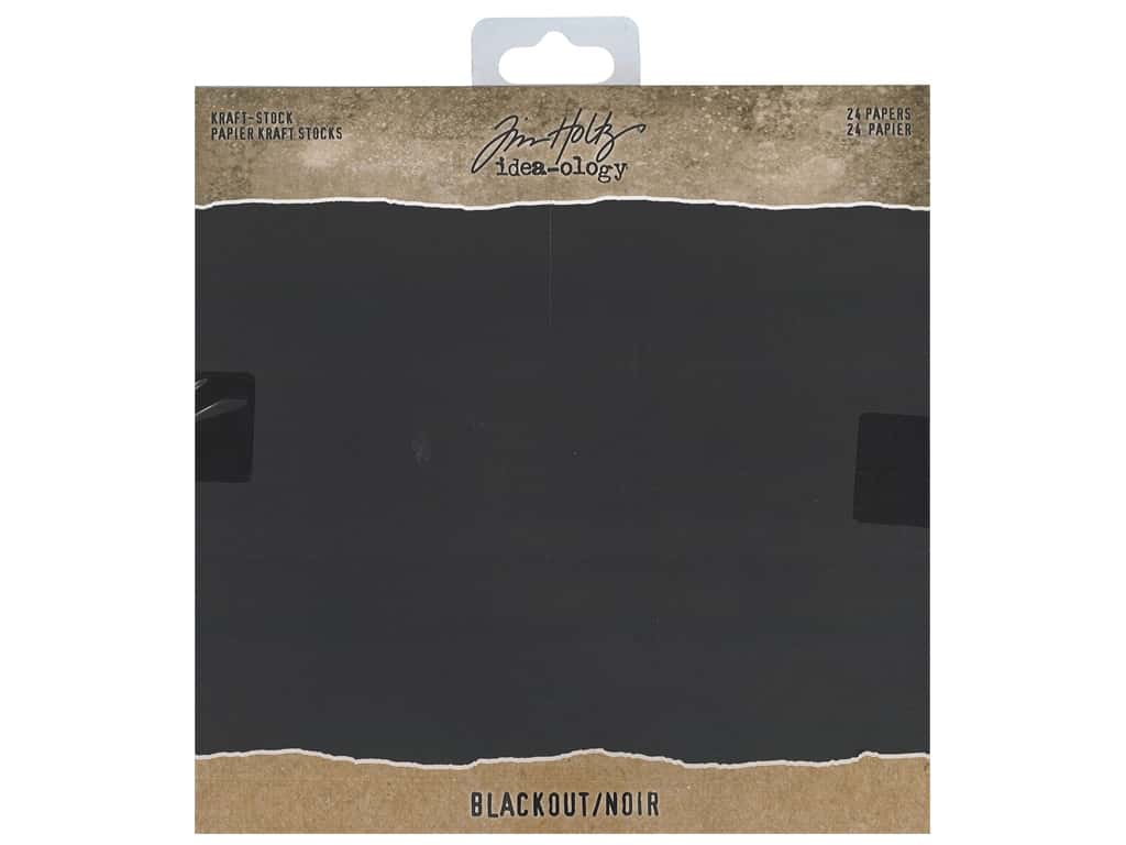 Tim Holtz Idea-ology Paper Stash Pad 8 in. x 8 in. Blackout