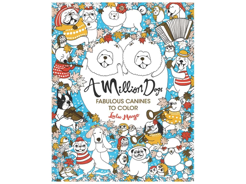 A Million Dogs: Fabulous Canines to Color Book
