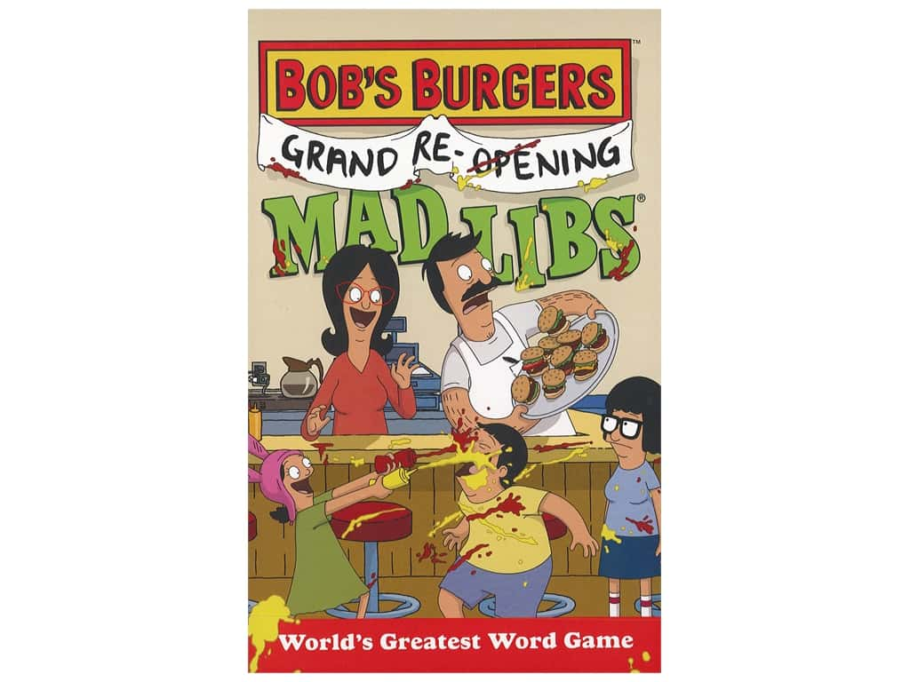 Price Stern Sloan Mad Libs Bob's Burgers Grand Re-Opening Book